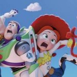 Woody, Buzz, Jessie and Forky in Toy Story 4