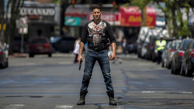 The Punisher on the street