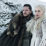 Jon Snow and Daenerys Targaryen in Game of Thrones