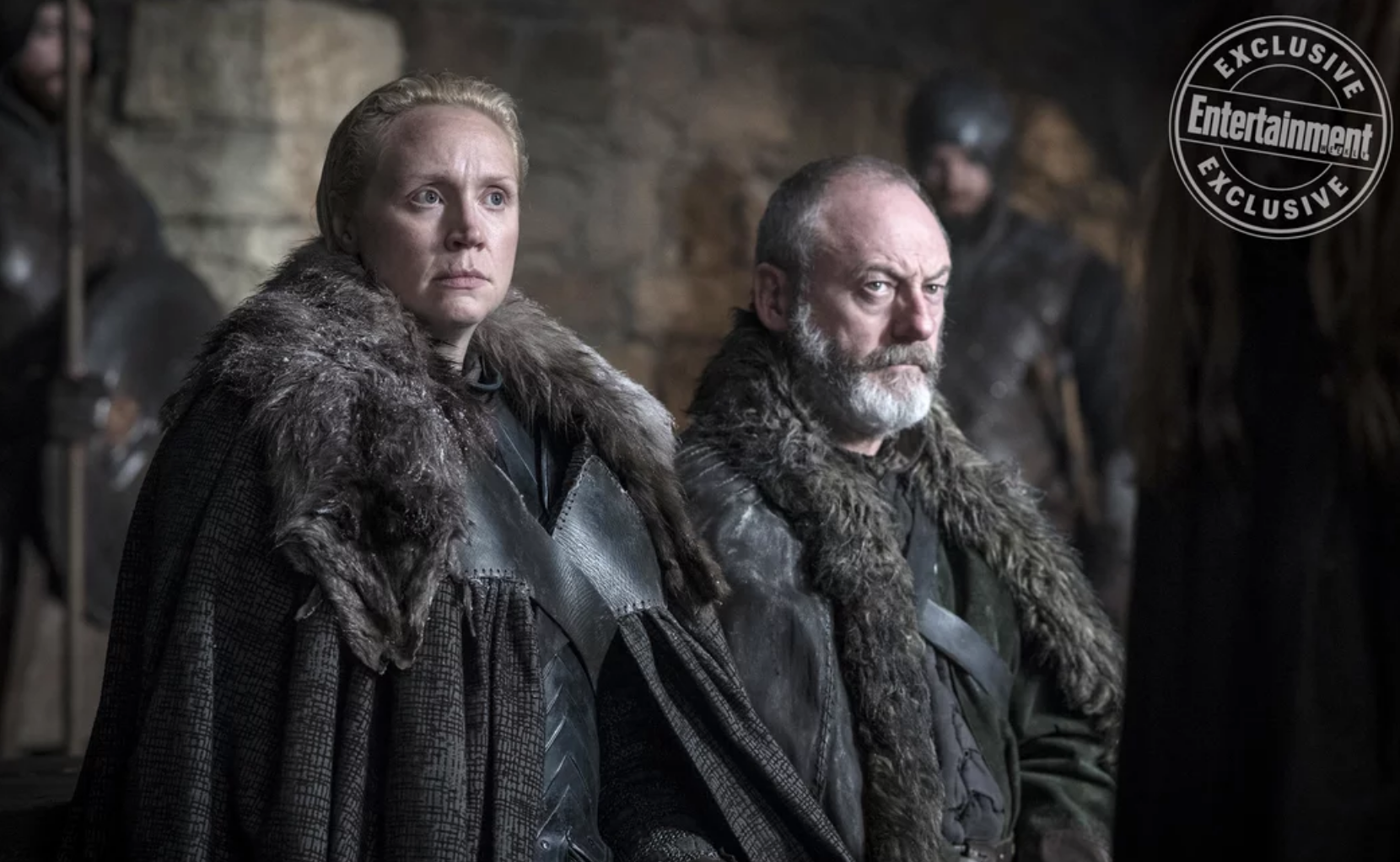 Brienne of Tarth and Davos Seaworth in Game of Thrones