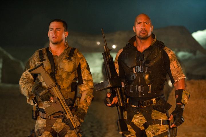 Channing Tatum and Dwayne Johnson in GI Joe: Retaliation