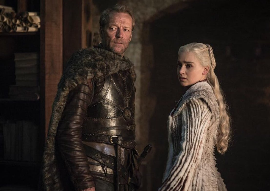 Jorah and Dany in Game of Thrones