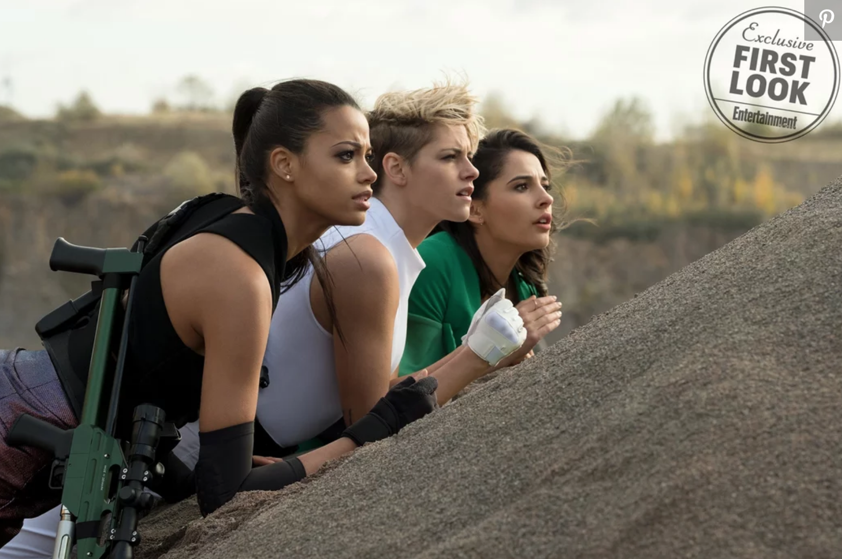 Kristin Stewart, Naomi Scott and Ella Balinski on a mission