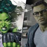 She-Hulk cartoon next to Hulk in Avengers: Endgame